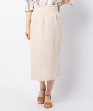 リネンライク ミディポケットタイトスカート