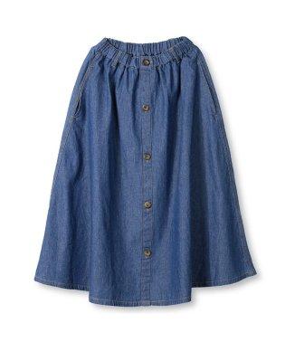 前ボタンデニムスカート