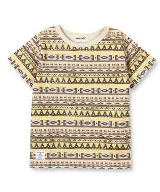 オルテガ柄半袖Tシャツ