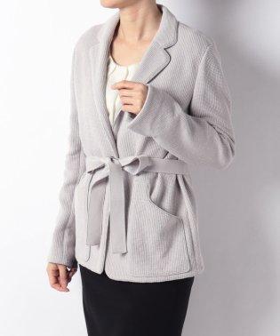リボンベルト付きジャケット