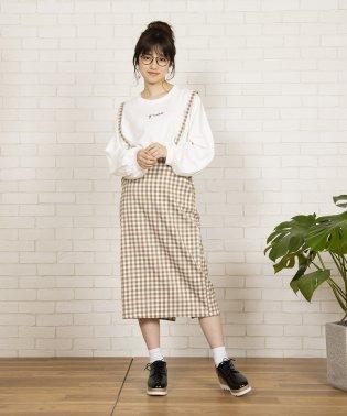 WEGO/サス付きタイトミディスカート