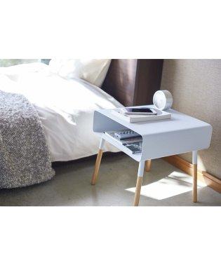 【ヤマザキ】ローサイドテーブル プレーン ホワイト