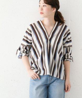 【ROSSO】2WAYストライプシャツ