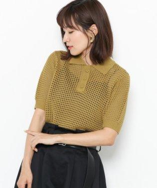 【SENSEOFPLACE】メッシュポロセーター(半袖)