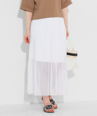 【SENSEOFPLACE】メッシュプリーツマキシスカート