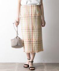 【UR】MKマルチチェックタイトスカート