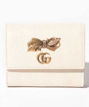 【GUCCI】3つ折り財布 / PETIT BOW 【M.WH/PERF.PINK/CRYST】