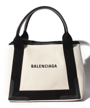 【BALENCIAGA】トートバッグ/NAVY CABAS S【NATUREL/NOIR】