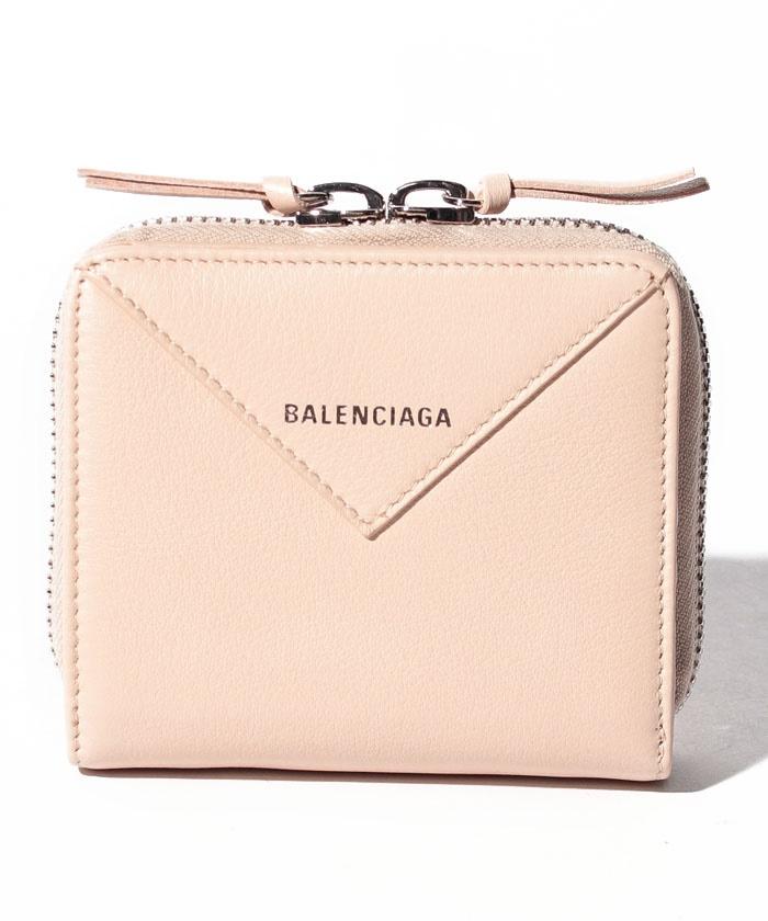 【BALENCIAGA】ラウンドジップ財布/PAPER ZA BILLFOLD【BEIGE TAPIOCA】