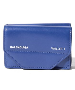 【BALENCIAGA】3つ折り財布/ETUI MINI WALLET【BLEU ELE./L BLANC】