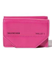 【BALENCIAGA】3つ折り財布/ETUI MINI WALLET【CYCLAMEN】