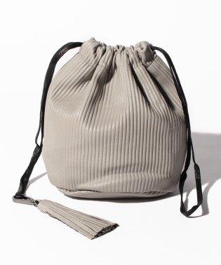 【WAREHOUSE】フェイクレザー巾着BAG