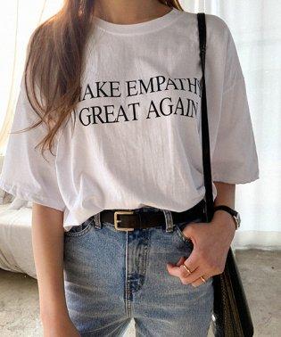 NANING9(ナンニング)GREATレタリングTシャツ