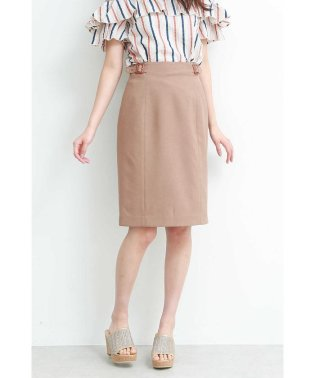 サイドボタンベルトタイトスカート