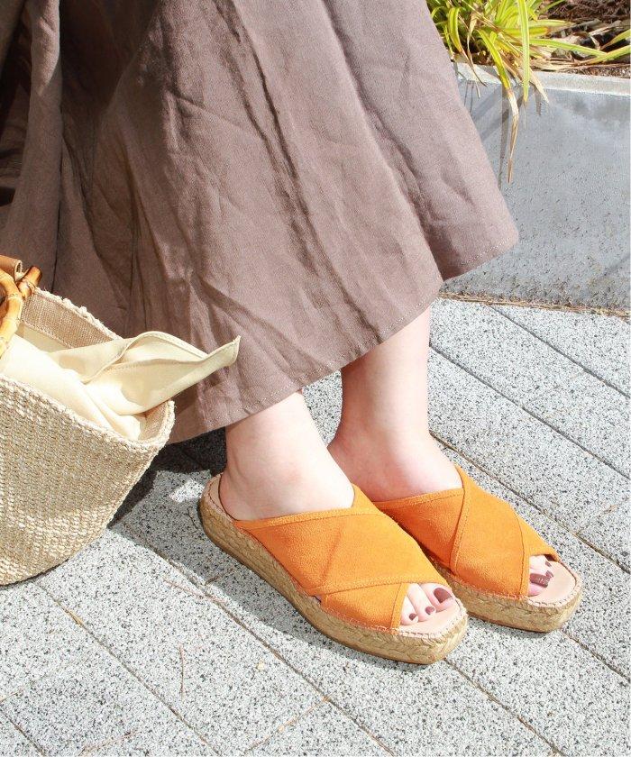 【GAIMO/ガイモ】スウェードクロスサンダル◆