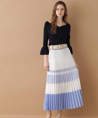 【TV着用】ミックスプリーツスカート
