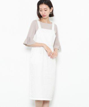 【SENSEOFPLACE】ステッチアウトジャンパースカート
