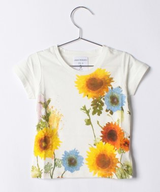 【KIDS】【WAREHOUSE】水彩TEE(Sunflower)