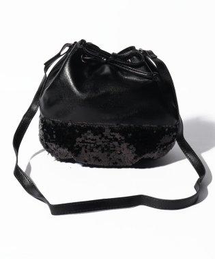スパンコール巾着バッグ