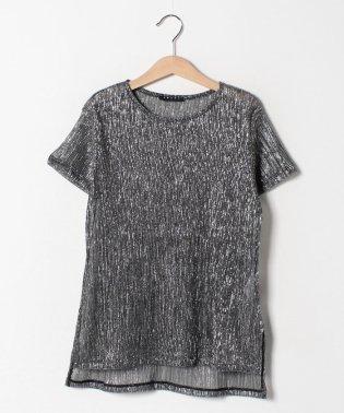 シルバーラメ半袖Tシャツ・カットソー