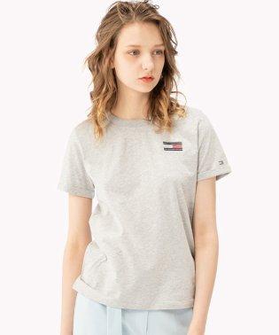 フラッグエンブロイダリーTシャツ