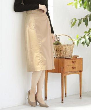 マーセサテンストレッチ スカート