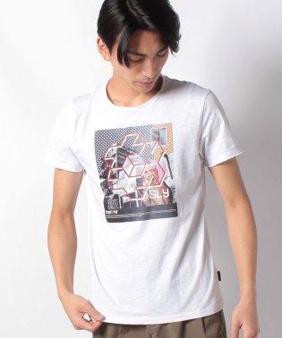 スラブグラフィックプリント半袖Tシャツ・カットソー