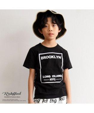 サイドテープボックスプリントTシャツ