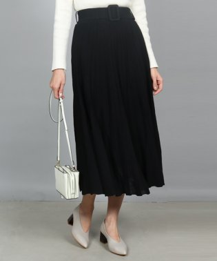 GRANDTABLE(グランターブル) ベルトプリーツニットスカート