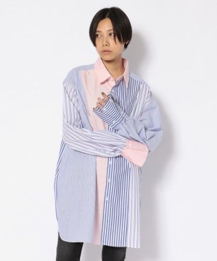 【PERK 5月号掲載】chica/チカ/ストライプクレイジーシャツ