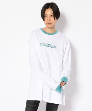 Torenia/トレニア/ラメリブロングスリーブTシャツ