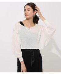 ONE-SHOULDER KNIT SET TOPS