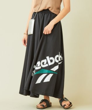 【別注】<Reebok>∴ビッグロゴプリント ロングスカート