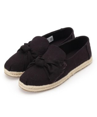 【WEB限定販売】TOMS(トムス) Black Canvas/Knot