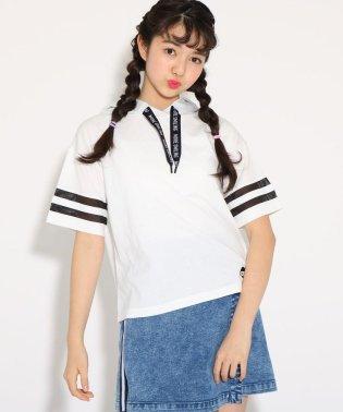 ★ニコラ掲載★ロゴスピンドルメッシュライン フード トップス
