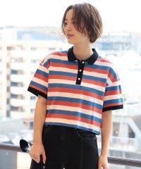 Ray BEAMS / マルチボーダー ポロシャツ