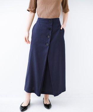 パッとはくだけでキレイなおねえさんになれそうな 麻調素材のきちんとスカート