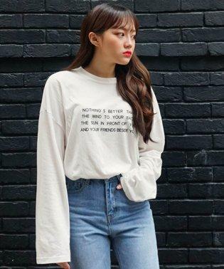 SONYUNARA(ソニョナラ)英字メッセージ長袖Tシャツ