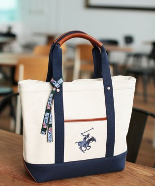 BEVERLY HILLS POLO CLUB キャンバストートバッグL