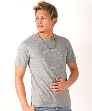 サークルロゴプリント半袖Tシャツ/Tシャツ メンズ 半袖 サークル ロゴ プリント