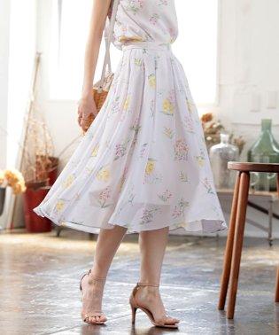 ★【セットアップ対応商品】ペールフラワープリントスカート