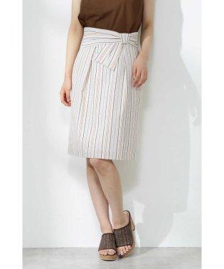 マルチストライプリボンスカート