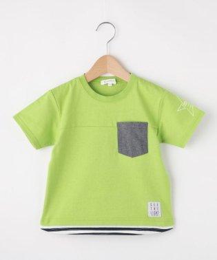【160cmまで】ポケット付きレイヤードTシャツ