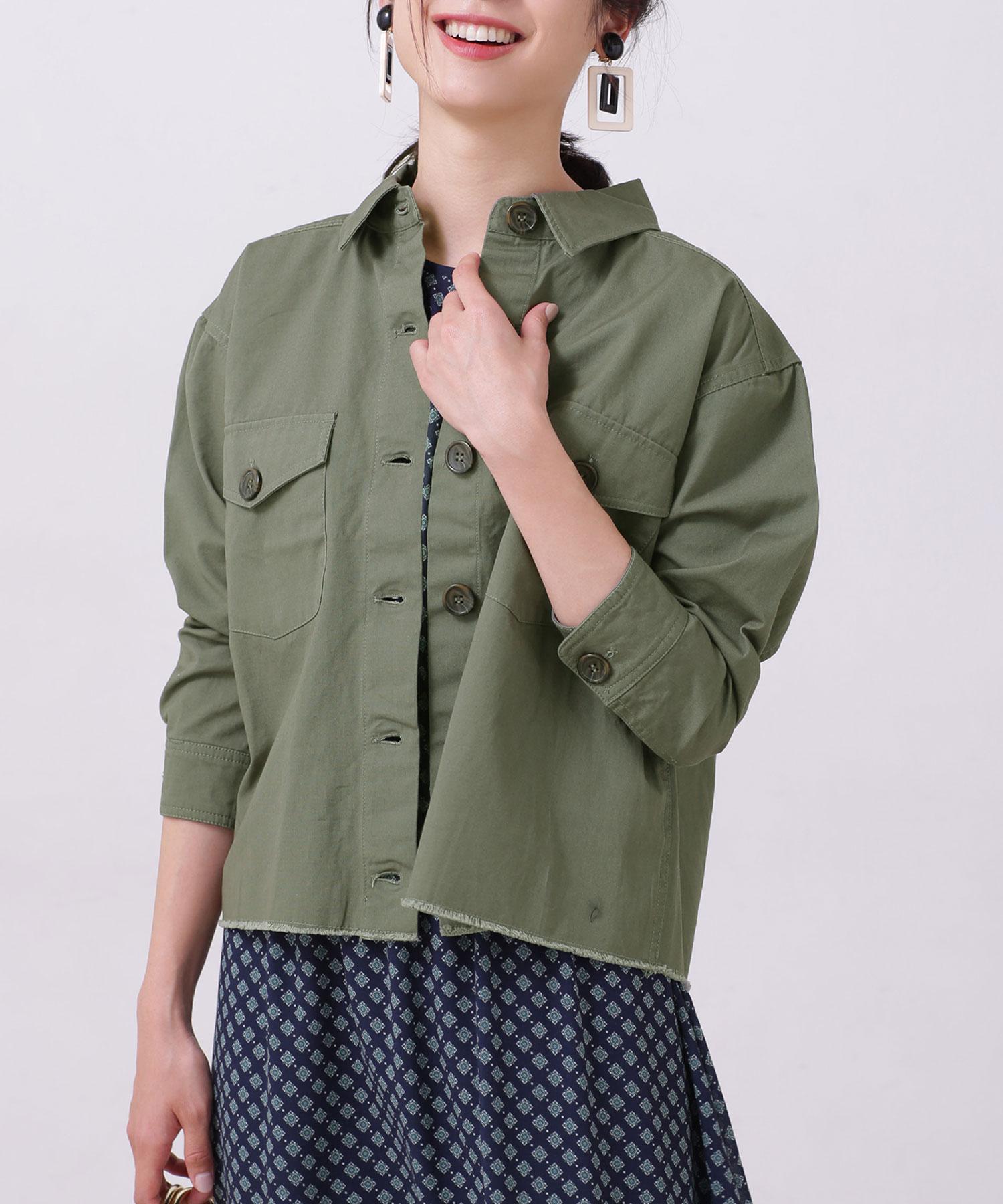 【WEB限定】カットオフミリタリーシャツジャケット
