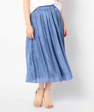 【WEB限定色】パールサテンギャザースカート