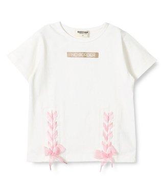 裾編み上げTシャツ
