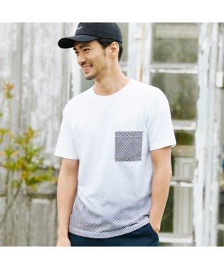 へリンボン柄グラデーションTシャツ
