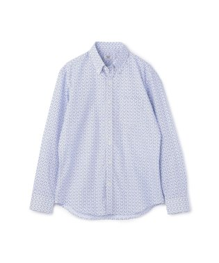 フラワープリントシャツ/コットン100%