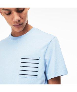 ボーダーポケットクルーネックTシャツ