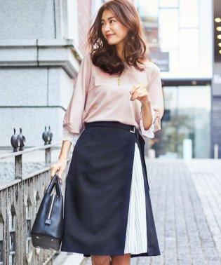 【2019春のWEB限定】ポリエステルリネンライクツイル スカート